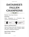 Dataslate: Cypher - Lord of the Fallen (eBook Edition)