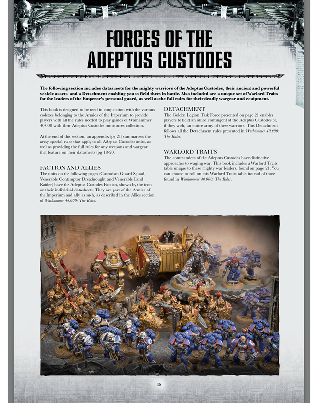Custodes and Sisters of Silence - 40k - Codices & Boxed sets *rules