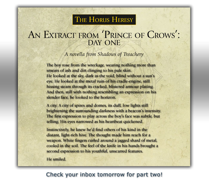 An extract from 'Prince of Crows'