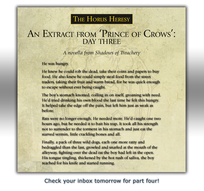 Prince of Crow extract: part two